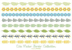 Jolie collection de bordures couleur pastel vecteur