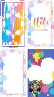quatre conception de fond avec le thème du festival joyeux holi