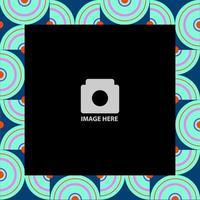 cadre photo abstrait cercle design scrapbook