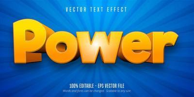 effet de texte modifiable de style cartoon dégradé orange vecteur