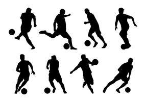 Vecteurs de joueur de futsal