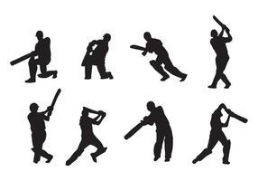 Vecteurs de joueur de cricket vecteur