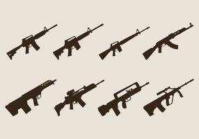 Vecteurs de fusil d'assaut
