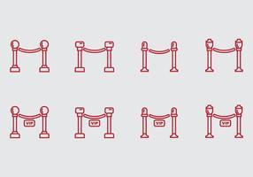 Icône de corde de velours