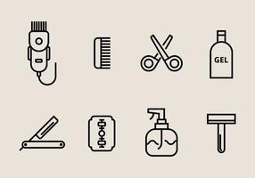 Icônes pour cheveux vecteur