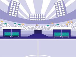 scène de stade de football de football