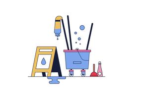 Vecteur de plancher humide gratuit
