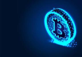 crypto-monnaies avec Bitcoin vecteur