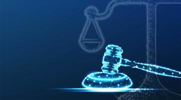 balance de la justice, symbole du marteau vecteur