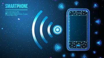 icône de téléphone et wifi vecteur