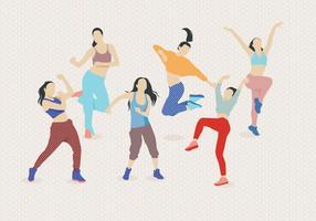 Zumba dancing vector