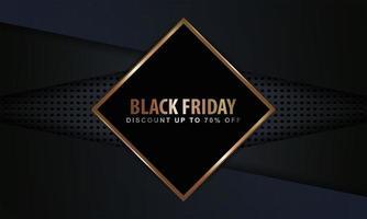 cadre de diamant noir vendredi sur des couches sombres vecteur
