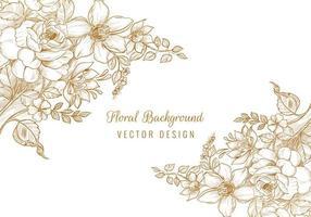 beau fond floral de mariage décoratif
