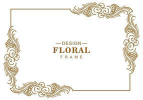 cadre floral artistique décoratif vecteur