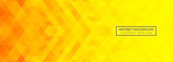bannière de tuiles géométriques abstraites orange et jaune vecteur