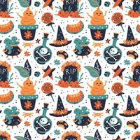 joyeux halloween sans soudure de fond. vecteur