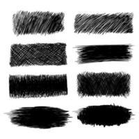 conception de jeu de texture de lignes de griffonnage dessinés à la main