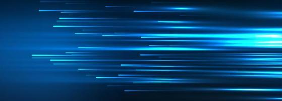 bannière de technologie avec conception de lignes de connexion vecteur