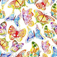 modèle sans couture aquarelle papillons