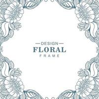 fond de cadre floral circulaire mandala décoratif vecteur
