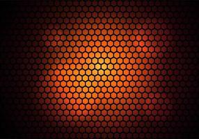 fond de technologie de modèle hexagonal moderne vecteur
