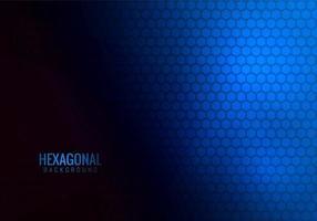 fond bleu tech hexagonale abstraite vecteur