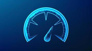 jauge de compteur de vitesse design abstrait lumineux vecteur