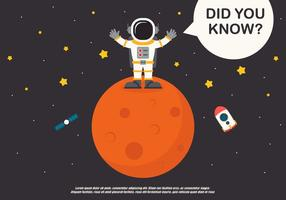 L'astronien et l'encyclopédie spatiale vecteur
