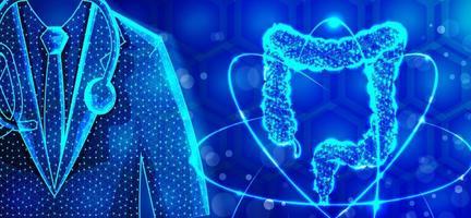 concept médical abstrait du système digestif