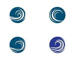 ensemble de logo de vague d'eau vecteur