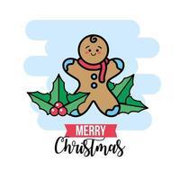 carte de voeux de célébration de cookie de Noël