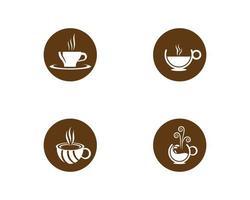 jeu d'icônes de tasse à café