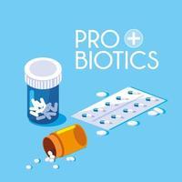 icône de probiotiques de médicaments bouteille