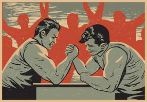 Compétition de lutte contre le bras vecteur