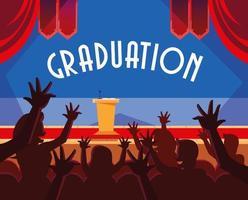 étudiants diplômés en conception de célébration vecteur