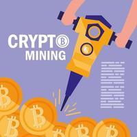icônes de bitcoin minier