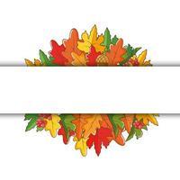 bannière de feuilles dautomne avec un espace pour le texte vecteur