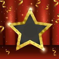 conception de modèle de célébration de récompense avec étoile