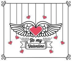conception de coeur de saint valentin