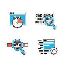 jeu d'icônes de programmation et de codage vecteur