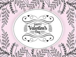 carte de voeux bohème saint valentin