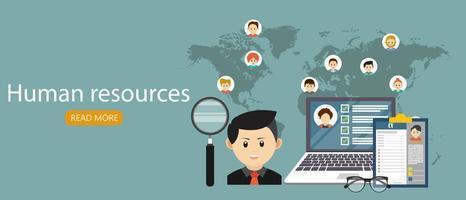 concept de recrutement sur les ressources humaines vecteur