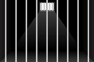 prison et fond de cellule de prison vecteur