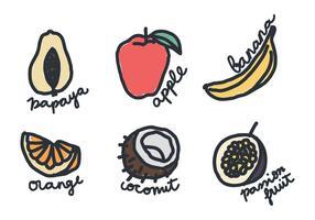 Doodles de fruits