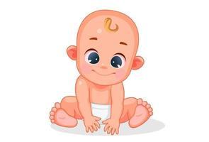 joli bébé avec une expression différente vecteur
