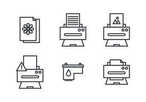 Trucs pour les imprimantes vecteur