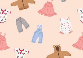 Vecteurs de vêtements pour bébés vecteur