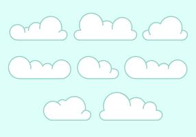 Vecteur de nuages gratuit