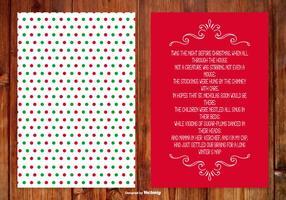 Carte Poème Noël vecteur
