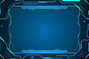 cadre de hud interface technologie abstraite vecteur
